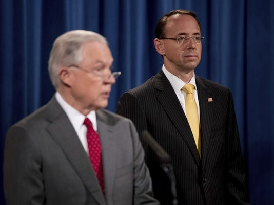 Jeff Sessions,Rod Rosenstein