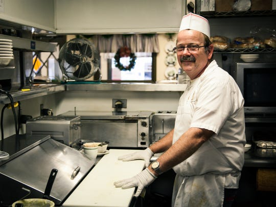 Jamie Bowman, Annville, has worked as cook at Schwalm's Restaurant for over 30 years. Schwalm's Restaurant, located at 213 E. Penn Ave. (Rt. 422) in Cleona, is a local favorite for Pennsylvania Dutch food.