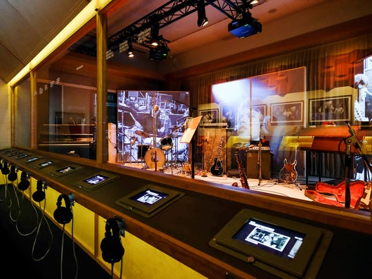 A recording studio recreation presented as part of