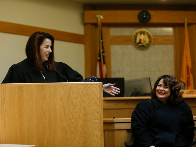 Judge Sarah Weaver motions toward New Mexico Court