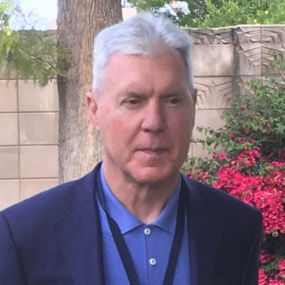 Packers general manager Ted Thompson meets with reporters