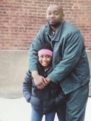 Samuel Harrell with his niece. Harrell died in April