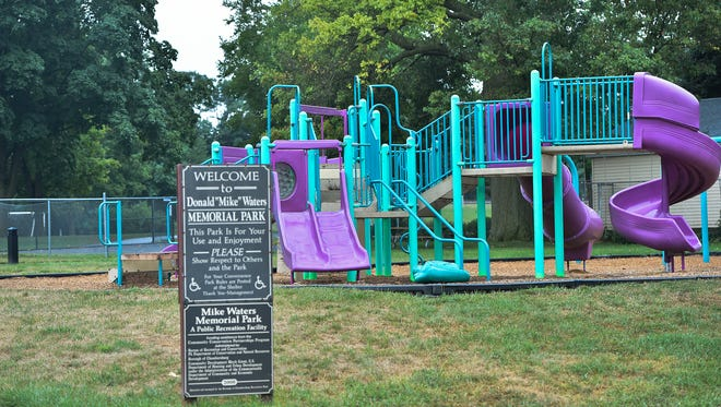The playground at Mike Waters Memorial Park