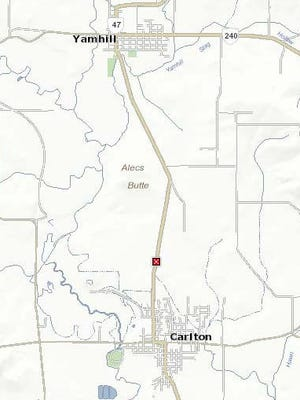 Crash has closed Highway 47 north of Carlton.