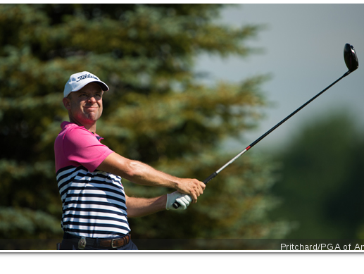 Rob Labritz fired a 3-under 69 at Atunyote on Monday that has him tied for 15th place at the 49th PGA Professional Championship.