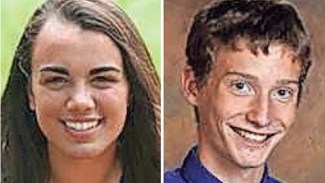 Lauren Unruh and Kevin Greif of St. Mary Catholic High School are this week's top scholars.