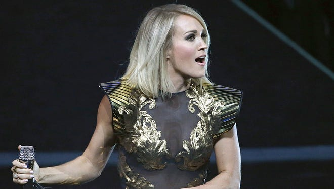 Carrie Underwood performs Tuesday at Bankers Life Fieldhouse.