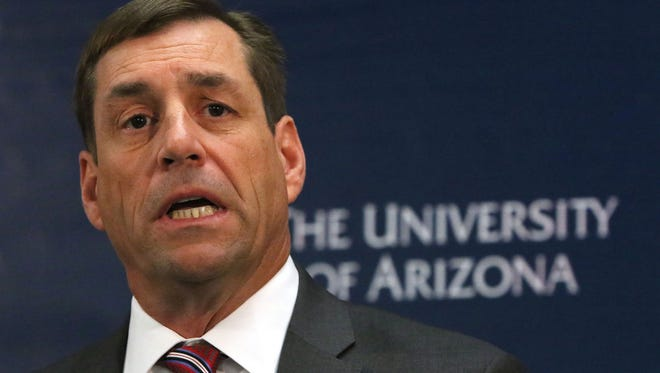 Arizona athletic director Dave Heeke.