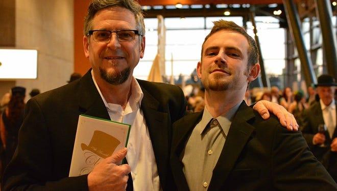 John Van Dreal and his son, Garritt Van Dreal, at the 2017 Clay Ball.