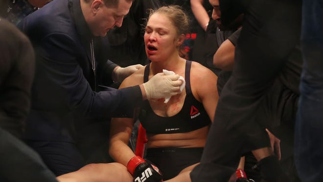 Ronda Rousey was not the only one bloodied by her loss, as sports books in Las Vegas were hit hard.