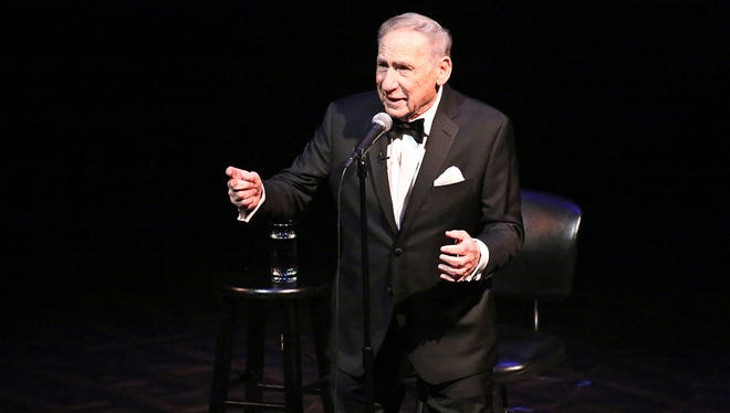 """Mel Brooks in performance from the TV special """"Mel Brooks Live at the Geffen."""""""