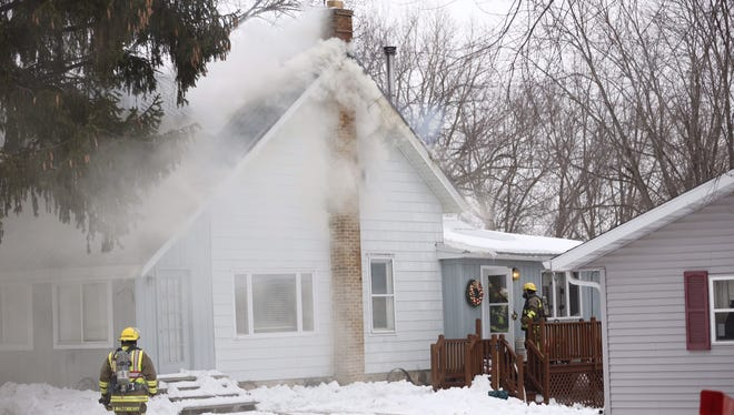 Multiple fire departments responded to a house fire Thursday afternoon along Fond du Lac C in the Town of Eldorado.