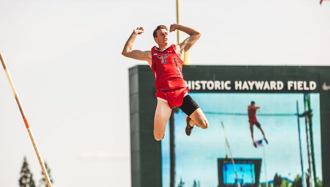 Texas Tech junior Drew McMichael jumped 17 feet, 4.5 inches to finish 13th in the country in the men's pole vault Wednesday at the NCAA Division I Track and Field Championships at Hayward Field in Eugene, Oregon.
