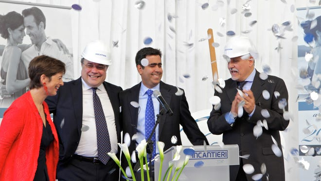Luxury cruise line Regent Seven Seas cut the first steel today, formally starting construction on what it says will be the most luxurious ship in the world.