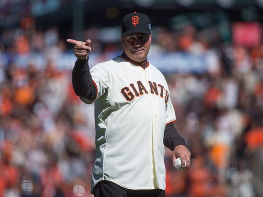 Former San Francisco Giants star Will Clark does some work for the team in his retirement.