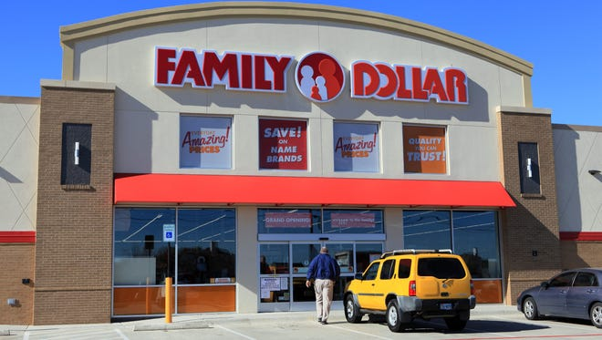 A man walks into a Family Dollar Stores Inc. location in Mansfield, Texas.