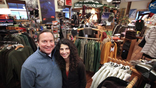 James and DeAnn Echols are the owners of the Great Outdoor Store in downtown Sioux Falls. (Jay Pickthorn/Argus Leader)