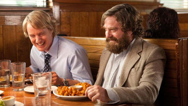 Owen Wilson, left, and Zach Galifianakis play best buds in the new dramedy 'Are You Here?'