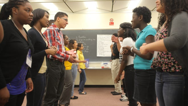 Local Rockland teens go through job training during Rockland Youth Bureau's TEACH program at Rockland Community College in Ramapo on July 8.
