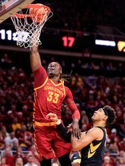 Iowa State Cyclones forward Solomon Young (33) goes