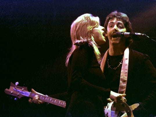 Paul McCartney and wife Linda