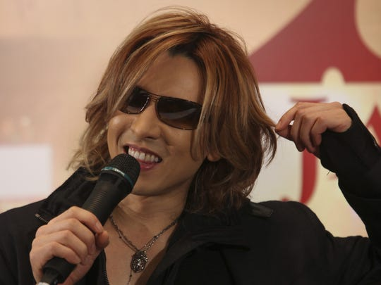 X Japan leader Yoshiki, pictured at a 2009 press conference, will perform Jan. 12 and 13 at Carnegie Hall in New York City.