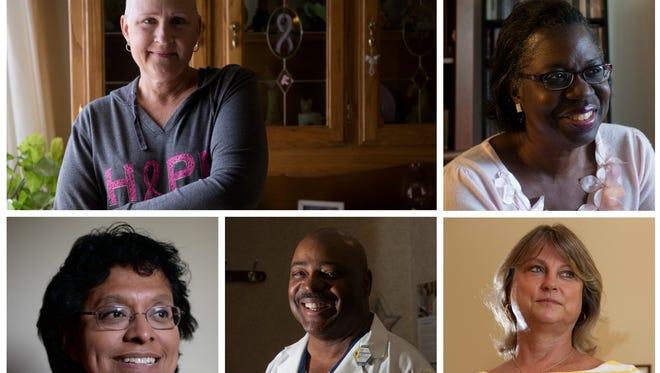 Clockwise from top left, Beth Huss, Cheryl Benjamin, Teri Banas, Dr. Lewis Jones and Theresa Stevens.