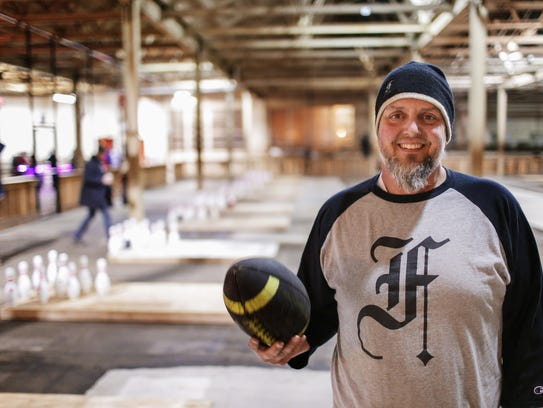 Chris Hutt, owner of The Fowling Warehouse in Hamtramck,