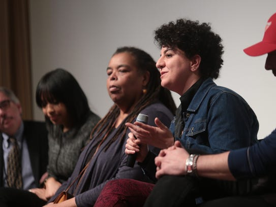 A panel discussion at the 2015 Freep Film Festival