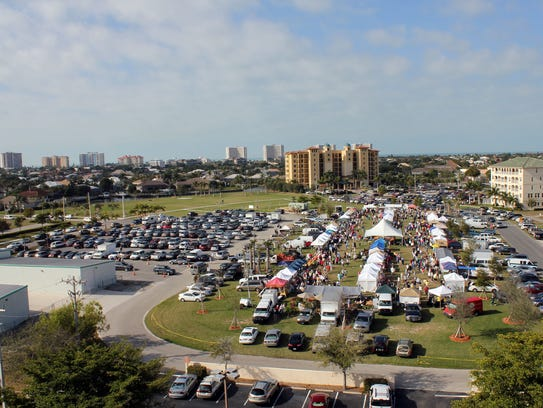 A typical Farmers Market day at Veterans Community