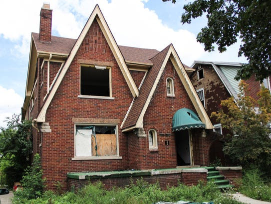 The house at 7124 Tuxedo, in Detroit, in the late summer