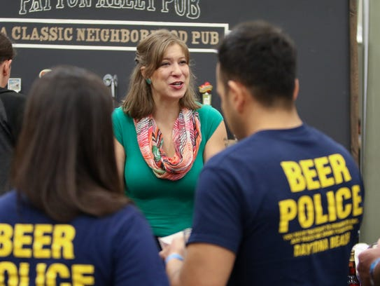 Celine Roberts of Patton Alley Pub talks to the beer