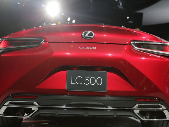 The 2017 Lexus LC500 Sport Coupe made its global debut