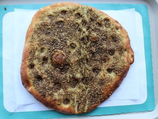 Za'atar bread at New Yasmeen Bakery in Dearborn.