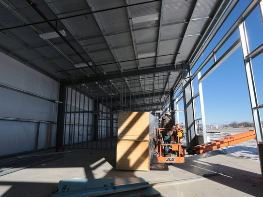The M1 Concourse in Pontiac is under construction