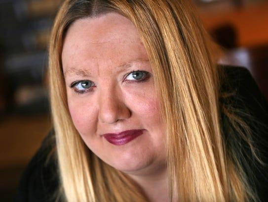 Self-published author Amanda Lee photographed at a