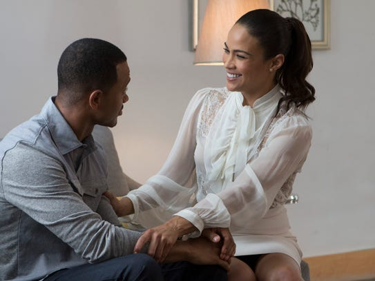 "Terrence Jenkins and Paula Patton in ""The Perfect Match."""