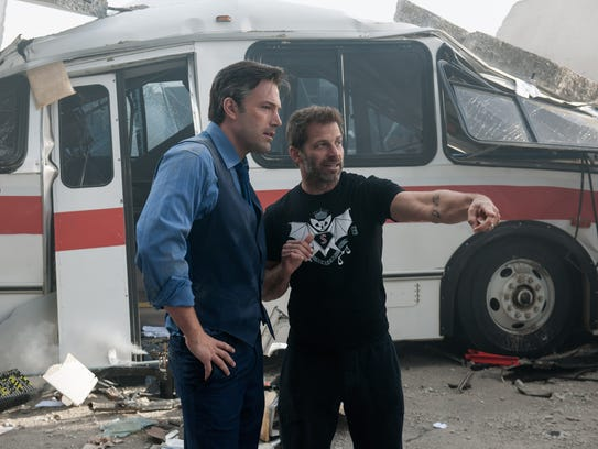 Ben Affleck, left, and director Zack Snyder on the