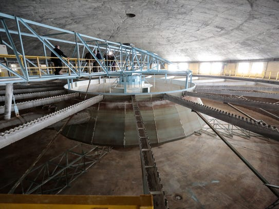 The Flint Water Treatment Plant is seen on Monday,