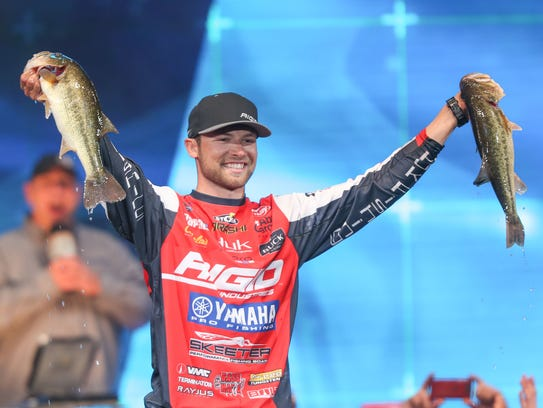 Pro angler Brandon Palaniuk of Hayden, Idaho, won the