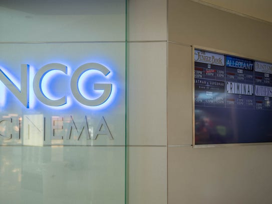 Signage at the newly remolded NCG Cinema at Lakeview