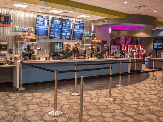 Snack area at the newly remolded NCG Cinema at Lakeview