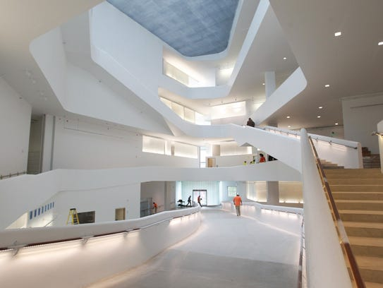 The interior of the new University of Iowa Visual Arts