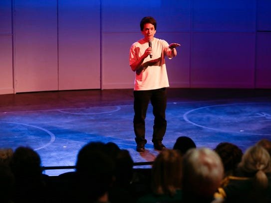 Mitch Albom addressed the audience Monday before a