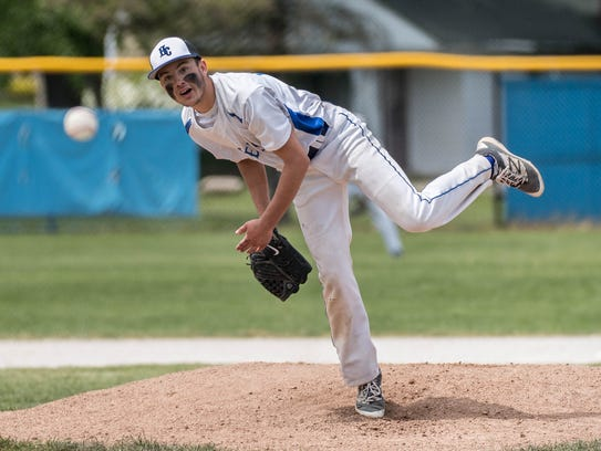 Harper Creek senior Cody Donato throws during finals