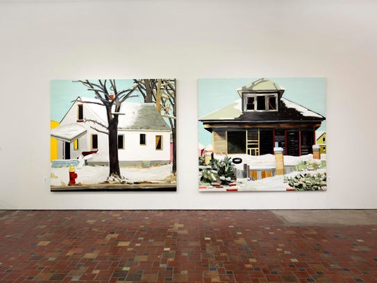 "The 2009 paintings ""Six Mile Road"" and ""Buffalo Street"""