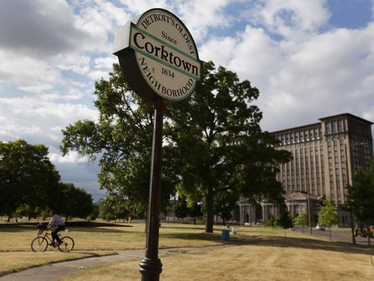 Roosevelt Park and Michigan Central Station in Corktown