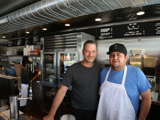 O.W.L. co-owner Joe Bongiovanni, left, and head cook