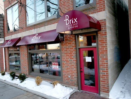 The front entrance of Brix wine an cheese restaurant