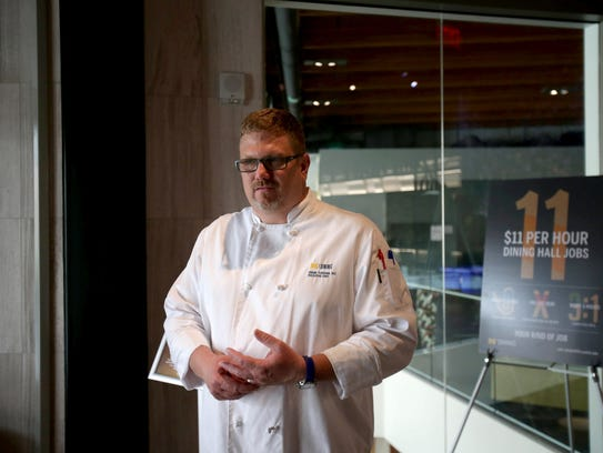Executive Chef of U-M dining Frank Turchan at the South